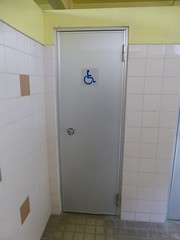How do you fit a wheelchair through that? (Stop carbon pollution) Tags: japan  honshuu  toilet