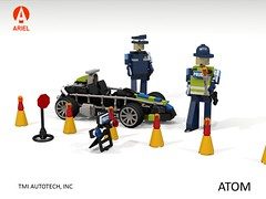 Ariel Atom - Police Community Vehicle (lego911) Tags: ariel atom 2014 2010s exoskeleton auto car moc model miniland lego lego911 ldd render cad povray uk england britain british sports sportscar police lugnuts challenge 104 thescienceofitall science element atomic