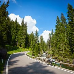 Passo Valles (Torsten Frank) Tags: alpen bach canyon dolomiten fahrrad gebirge gebirgsbach marke palagruppe paledisanmartino pass passovalles rennrad ultimatecfslx wasser zipp strase passstrase