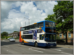 17486, Evreux Way (Jason 87030) Tags: sky sun june clouds town rugby dennis clifton stagecoach trident 2016 17486 alx400 evreuxway lx51fme