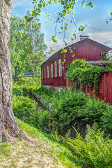 Chunnel (STTH64) Tags: trees red house green water finland wooden chunnel vanharauma