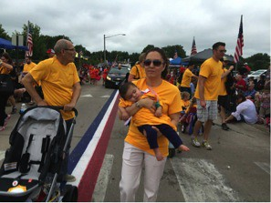 IRL staff and family at 4th of July parade