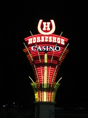 Horseshoe Casino (BarryFackler) Tags: vacation gambling sign night dark outside lights midwest neon outdoor iowa casino neonlights neonsign horseshoe 2016 horseshoecasino councilbluffsia councilbluffsiowa barryfackler barronfackler