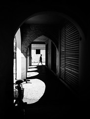 framed in light (Sandy...J) Tags: street city italien light shadow urban bw italy sunlight white man black lines silhouette architecture dark walking photography mono licht blackwhite noir alone fotografie darkness walk streetphotography atmosphere stadt architektur sw mann monochrom passage altstadt oldtown atmosphre linien allein durchgang sonnenlicht schwarzweis strase strasenfotografie