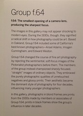 Group f.64 (Melinda ....) Tags: f64 label museum photography history california oaklandmuseum omca lens 1930s anseladams