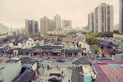 Fangbang Rd, view from the antique market building (avezink) Tags: urban shanghai horizon ne vista   oldtown highrises  fangbanglu    henannanlu guangfunong cangbaolou