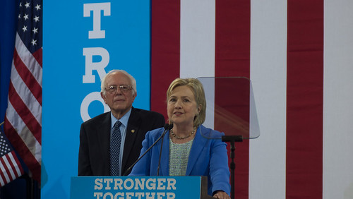 Bernie Sanders & Hillary Clinton by marcn, on Flickr