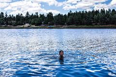 bobber (Michael Kenan) Tags: show arizona lake girl kids forest swimming low az hollow fool