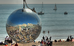 Brighton Beach; May Day Bank Holiday (BoblyP) Tags: sea england geotagged sussex brighton orb sphere southcoast brightonbeach eastsussex englishchannel glitterball southeastengland maydaybankholiday boblyp may2013 cityofbrightonhove geo:lat=50819155701845 geo:lon=013920798897743225