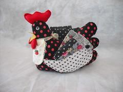 Galinha porta ch (cuoreditrappo) Tags: galinha patchwork galinhatecido