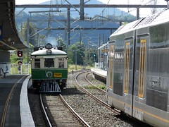 old meets new (sth475) Tags: railroad autumn urban car electric train coach diesel railway australia railcar nsw commuter emu passenger interurban signal dapto illawarra bilevel dmu doubledeck singlelight multipleunit tinhare homesignal cph1 colourlight railmotor nswr southcoastline cph7 cphclass 42foot