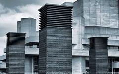 The Shed - National Theatre (Shelbel64) Tags: blackandwhite london monochrome mono southbank nationaltheatre theshed uploaded:by=flickrmobile flickriosapp:filter=nofilter