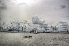 Hamburg Harbour Anniversary 8 (blavandmaster) Tags: allemagne awesome bateaux beautiful beach breakwater ciel clouds cloudy coast colour couche couchesoleil deutschland eau elbe evening hafengeburtstag handheld hansestadt harbour hdr himmel historic history horizon landschaft landscape licht light may north nuages photomatix processing reflection river rivire sailing schiffe sea seasons ship shore sky skyline soleil sonne sonnenuntergang spring sun sunset water wolken