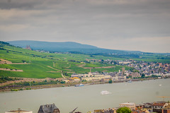 View of the Rhine River Valley from Bingen Germany towards Rdesheim (mbell1975) Tags: from mist rain river germany deutschland europe day view cloudy rainy german valley rhine rhein towards deutsch rdesheim bingen