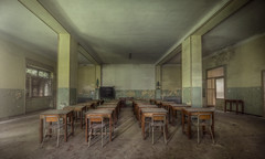 you have no future  ( explore ) (andre govia.) Tags: world school urban abandoned film breakfast club canon buildings out photo closed photos desk decay room exploring explorer down images class andre creepy business urbanexploration ghosts left cinematic derelict decayed decaying ue urbex bounds decayedbuildings urbanexplorers govia urbexdecay urbexabandoned andregovia
