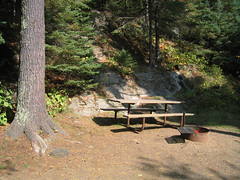 Jay Cooke State Park campground site