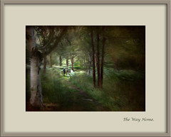 Friends (tuffgrass 63 Back Now.) Tags: trees friends texture painting woods paths