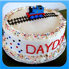 Thomas the Train Cake by Elicia, Santa Cruz, CA, www.birthdaycakes4free.com