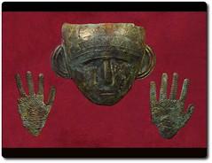 Death Mask and Gloves (oar_square) Tags: austria celtic cremation frög celticgraveartifacts celticdeathmaskwithtwohands celtsinaustria celticdeathmask celticworldinfrög