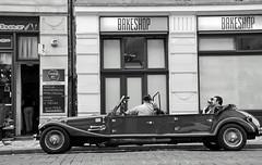 city cruiser (xfoTOkex) Tags: city travel blackandwhite bw white black car shop bar blackwhite cafe nikon prague capital prag praha czechrepublic oldtimer innercity oldcar d5100