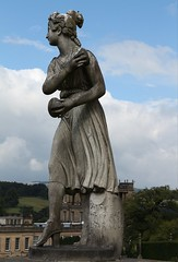 Statue looking at the nice view (Carol Spurway) Tags: chatsworthhouse derbyshire bakewell statue stone lady chatsworth grounds exterior gardens treasurehousesofengland hha historichousesassociation hh historichouses