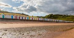 Broadsands (alanrharris53) Tags: sea sun colour beach huts devon beachhuts cloads broadsands