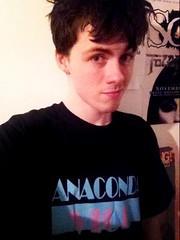 "Ryan O' Sullivan and his ""Anaconda Vice"" shirt"