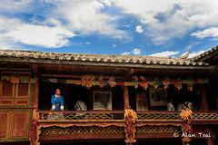 Naxi Tribe (Alan Dreamworks) Tags: china blue mountain snow heritage nikon dragon unesco yunnan tribe oldtown lijiang  d3 hieroglyphics  naxi    dongba   oldcastle      nikond3  alandreamworks