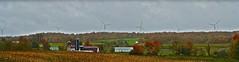Wind farm panorama (tmo222) Tags: autumn panorama fall farm farmland photomerge colourful hdr windfarm turbines mapleridgewindfarm