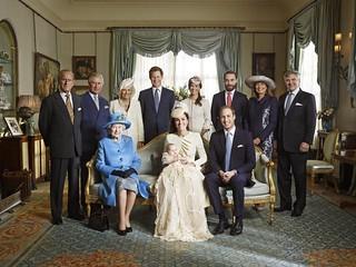 乔治王子冠名仪式 四代君主同堂