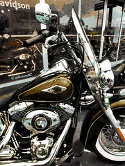The Harley (Steve Taylor (Photography)) Tags: brown heritage classic anniversary harley chrome harleydavidson 105 windshield softail inches 103 cubic 105th mudguard inchs anv flstc