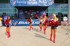IMG_8779 (grooverman) Tags: plaza game sexy canon eos rebel football nice texas cheerleaders legs boots stadium nfl houston t3 dslr budweiser texans pregame reliant 2013