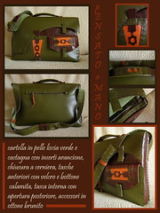 cartella verde marrone