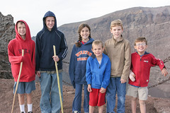 Hiking Mt. Vesuvius (Photos By Clark) Tags: family friends people italy jesse europe campania canon20d places location where caleb printed photoframe ercolano locale immediatefamily woodsons print200611italy