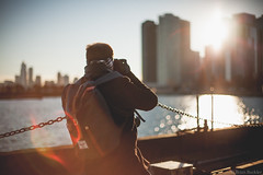 Dan Shooting (Brian.Buckler) Tags: chicago cold canon pier google drink navy il photo