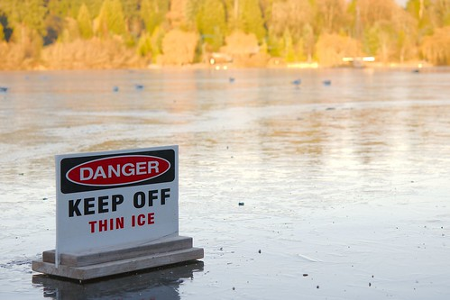 Danger - Keep off thin ice