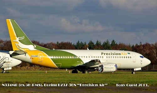 "N334MP. Boeing B737-36N ""Precision Air""~ 9th December 2013."