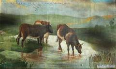 Romualdo Prati Al fiume olio su tela 18,5x30cm di Collezione privata