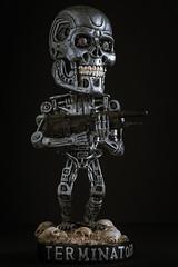 I'll be back (SauceyJack) Tags: metal skulls toy gun head flash weapon bobblehead collectible terminator bobble terminator2 2014 judgementday t800 endoskeleton headknocker lr5 10028l lightroom5 canon1dx sauceyjack