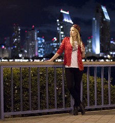 Anna in front of the downtown San Diego skyline (San Diego Shooter) Tags: girls portrait girl model cityscape sandiego bokeh modeling nightportrait downtownsandiego sandiegocityscape {vision}:{people}=099 {vision}:{face}=099 {vision}:{text}=0594 {vision}:{outdoor}=0885 {vision}:{dark}=0518