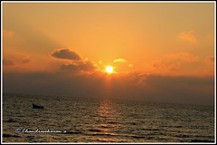 3868 - sun rise at Rameswaram (chandrasekaran a) Tags: india sunrise bay tamilnadu rameswaram canon60d