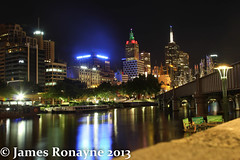 MELBOURNE ON CHRISTMAS EVE (james.ronayne) Tags: christmas street city eve night canon river photography australia melbourne victoria yarra cbd flinders 70d 201312