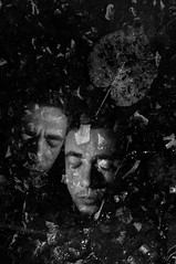 I can't see in here (Vasilis Amir) Tags: portrait blackandwhite selfportrait man motion male leave monochrome leaves self dark moving experimental narcissism doubleexposure ghost surreal move double transparency transparent icm twofaces  abstractportrait intentionalcameramovement vasilisamir