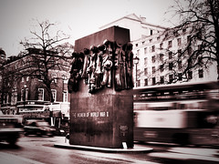 Monument to the Women of World War II (davepickettphotographer) Tags: world uk red bus london monument women memorial war traffic britain ii whitehall worldwar2 westminister cityoflondon secondworldwar cityofwestminister