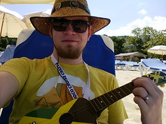 JoCo Cruise Crazy 4 - Independence Of The Seas (colmmcsky) Tags: sky mike ukulele jamaica beachparty colmmcsky jccc4