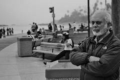 Untitled (ajkpix) Tags: california street people blackandwhite bw blackwhite you c hank lagunabeach blackwhitephotos scattidistrada