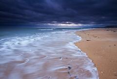 Grim Weather (been snapping) Tags: storm beach water canon scotland day waves cloudy fife sigma escocia da 7d eccose