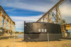 USS Mariano G. Vallejo (SSBN-658) Sail Fin (www78) Tags: island mare g submarine sail restoration fin naval vallejo mariano base uss ssbn658