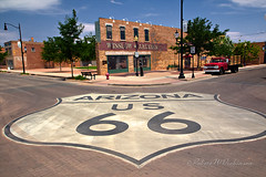 Iconic Shot of Route 66 in Winslow, Arizona (eoscatchlight) Tags: arizona route66 winslow yesteryear mainstreetusa themotherroad standinonacorner ofdaysgoneby