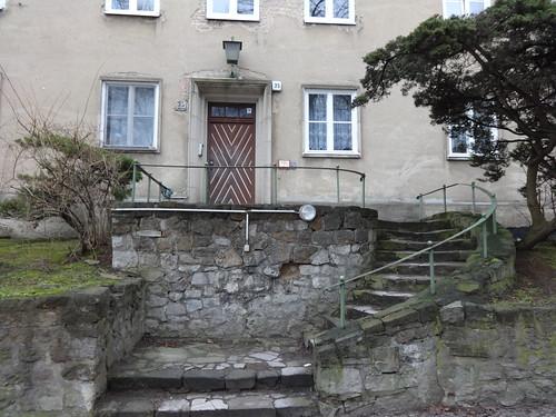 1934/36 Potsdam Tür mit Außentreppe Wohnanlage Albert-Einstein-Straße 2-24/Brauhausberg 25-36 von Heinrich Laurenz Dietz in 14473 Teltower Vorstadt